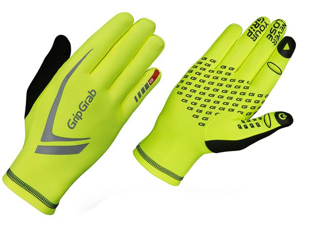 GripGrab Running Expert Hi-Vis Guanti Touchscreen Invernali, fluo yellow